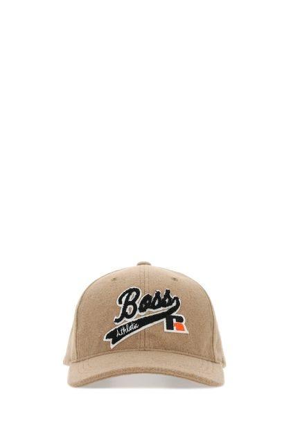 Melange cappuccino polyester baseball cap