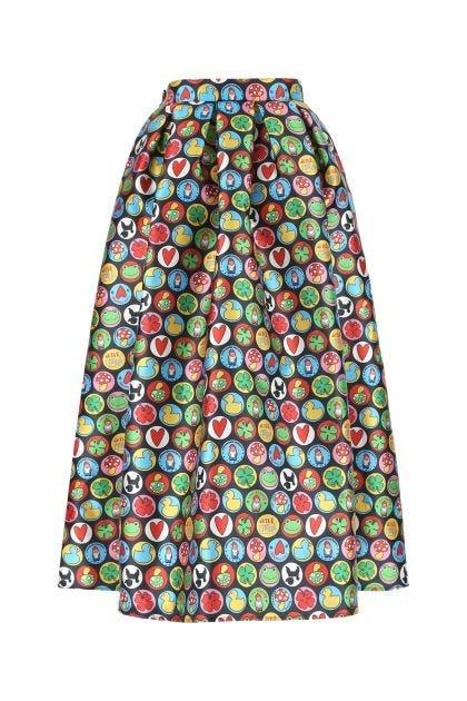 Printed polyester skirt