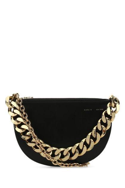 Black leather Starfruit crossbody bag