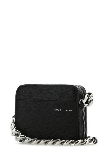Black leather Universal Chain crossbody bag