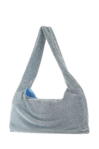 Light blue satin Armpit shoulder bag