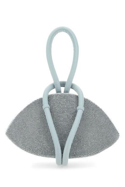 Light blue leather Knot handbag