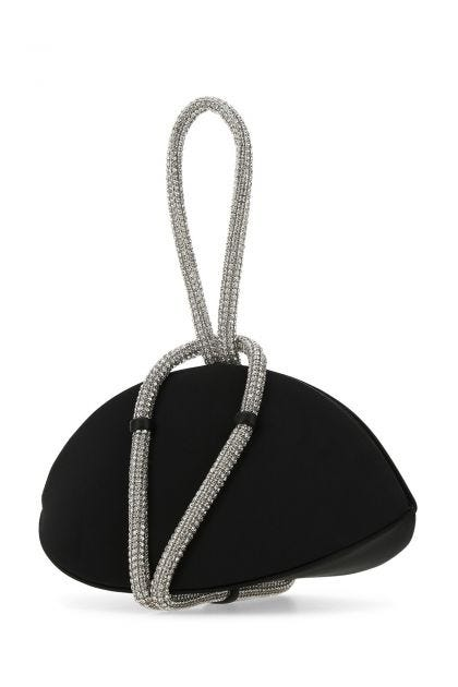 Black polyester Knot handbag