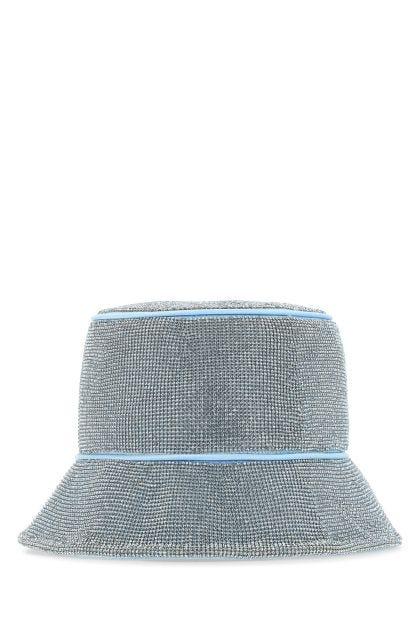 Embellished satin bucket hat