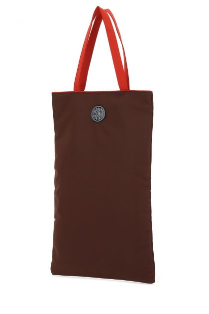 Two-tone polyester shopping bag