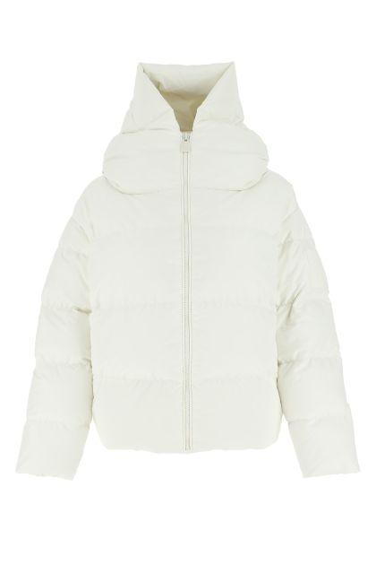 White polyester Giada oversize down jacket