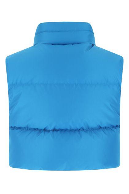 Turquoise polyester Ramon Giada sleeveless down jacket