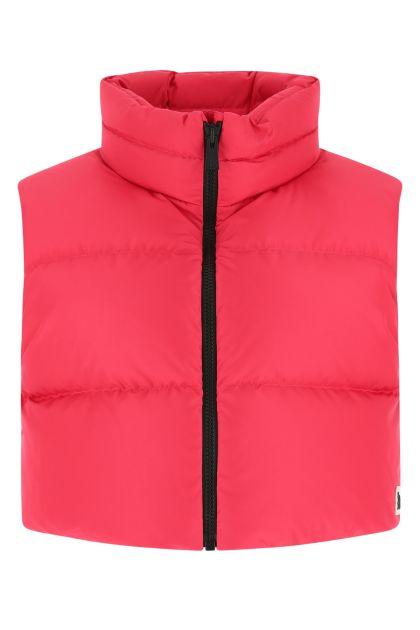 Fuchsia polyester Ramon Giada sleeveless down jacket
