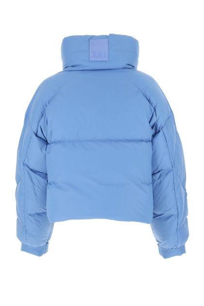 Powder blue nylon Puffa Ring down jacket