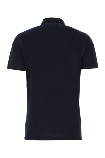 Midnight blue piquet polo shirt