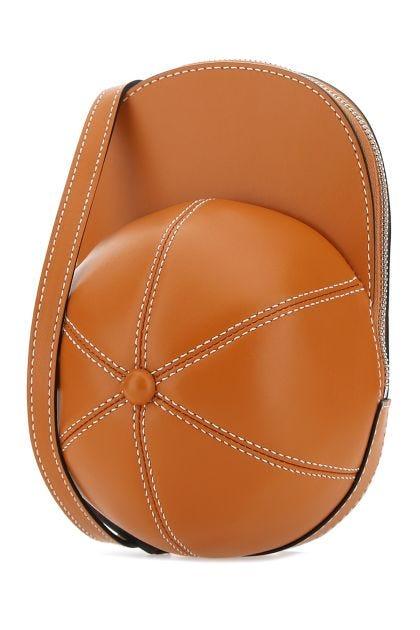 Dark orange leather midi Cap Bag crossbody bag