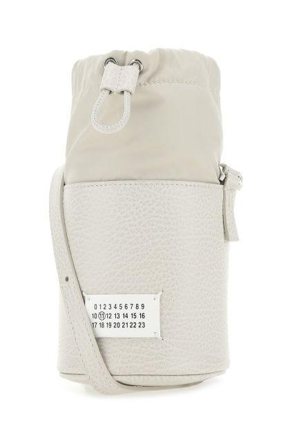 Chalk leather crossbody bag