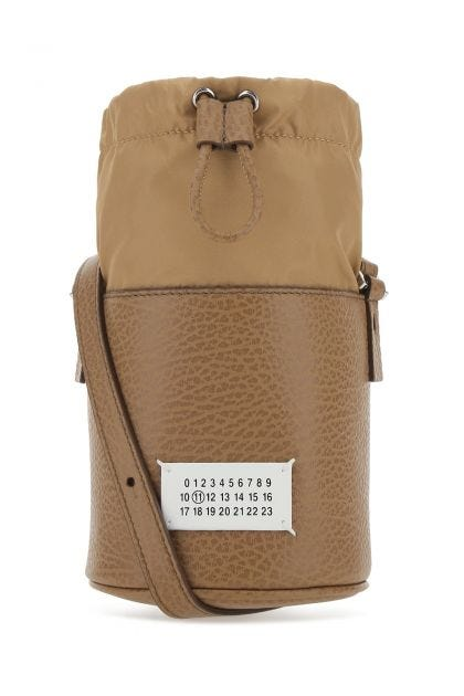 Biscuit leather crossbody bag