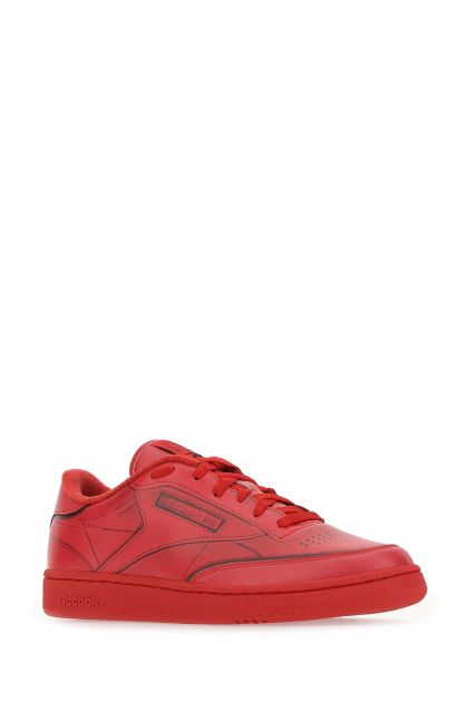 Red leather Project 0 sneakers