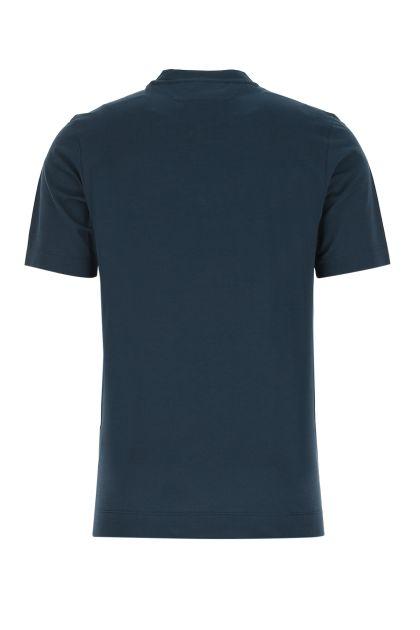 Teal green cotton t-shirt