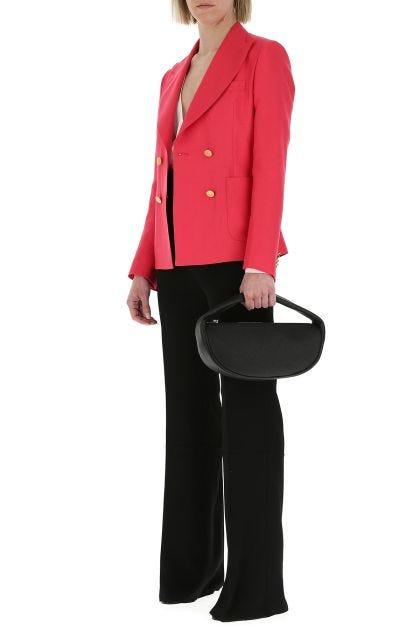 Black leather Cush handbag