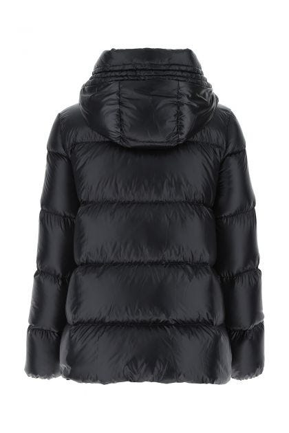 Black nylon Seritte down jacket