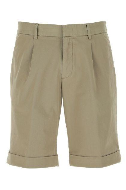 Cappuccino stretch cotton bermuda shorts