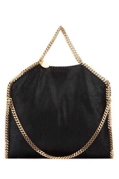 Black shaggy deer Falabella Fold Over handbag