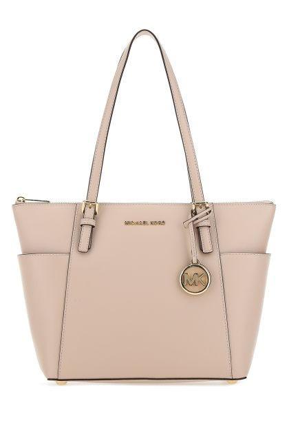 Pastel pink leather large Jet Set shoulder bag