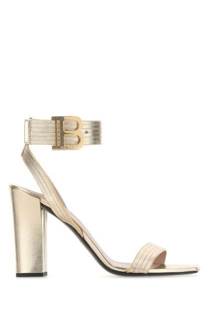 Platinum nappa leather Stella sandals