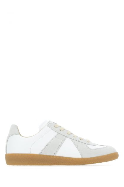 Two-tone leather Replica sneakers
