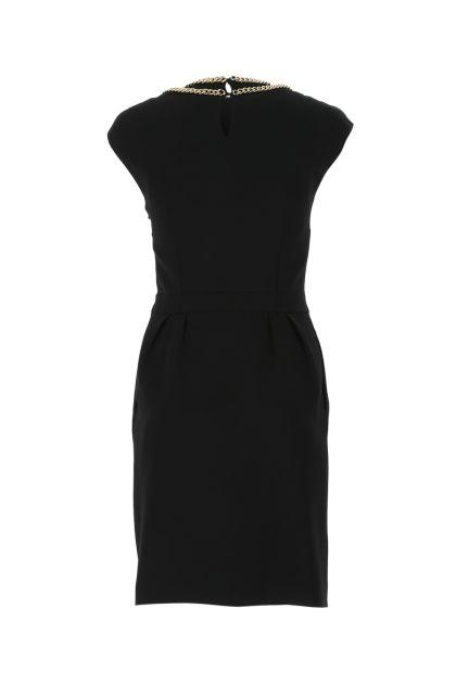 Black stretch crepe dress