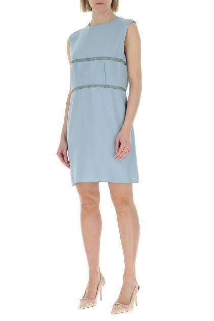 Powder blue viscose dress