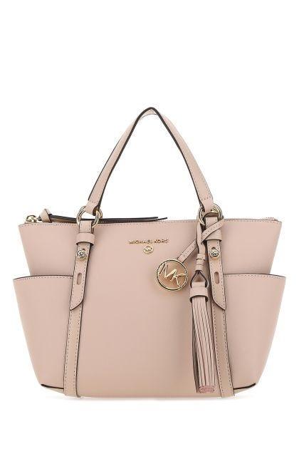 Pastel pink leather small Top-Zip Sullivan hand bag
