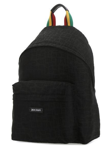 Black polyester Monogram backpack