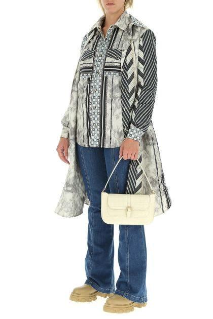Sand leather Miranda shoulder bag