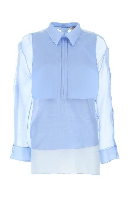 Powder blue organza shirt