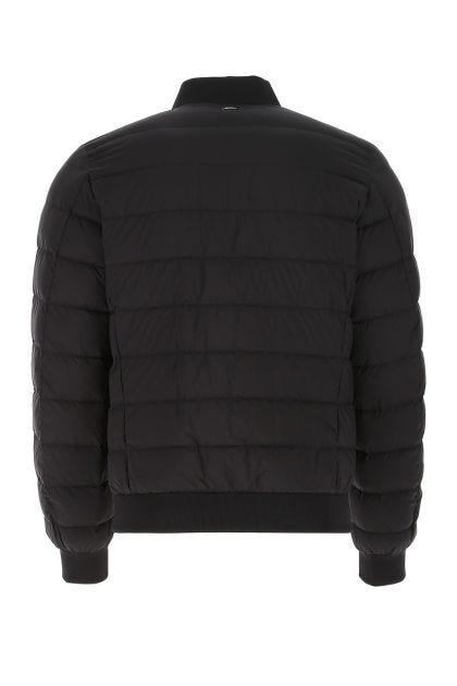 Slate nylon L'Aviatore down jacket