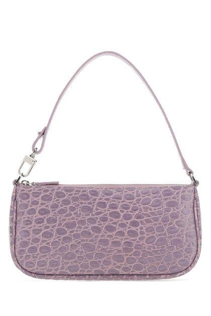 Lilac leather Rachel shoulder bag