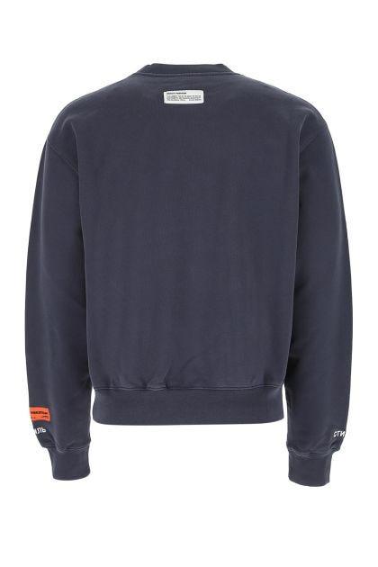 Navy blue cotton sweatshirt