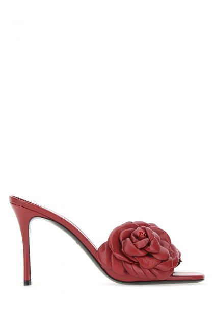 Tiziano red leather Atelier 03 Rose Edition mules