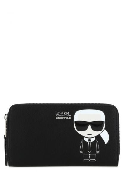 Black synthetic leather Ikonik wallet
