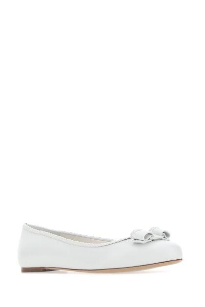 White leather Varina 3c ballerinas