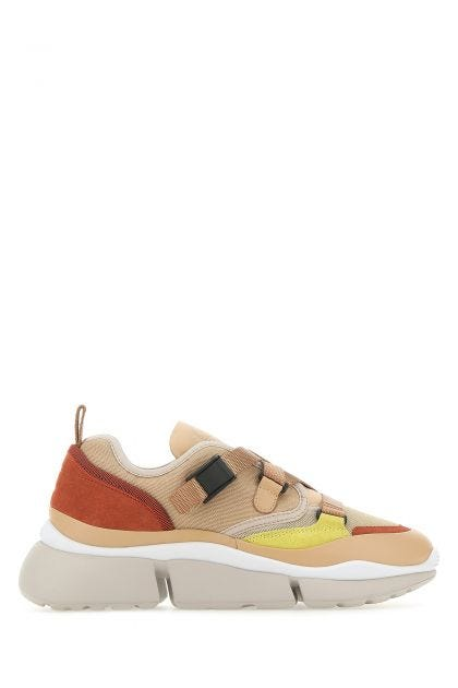 Multicolor fabric and leather Sonnie sneakers