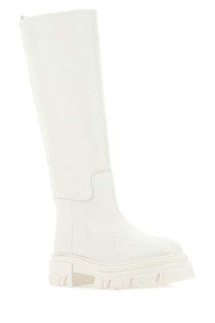 White leather knee Perni07 boots
