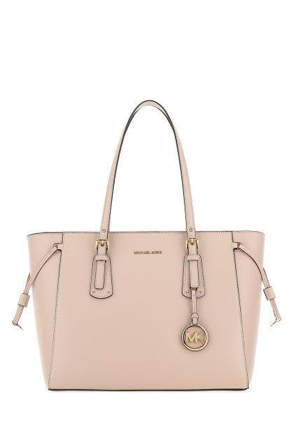 Pastel pink leather medium Voyager shoulder bag