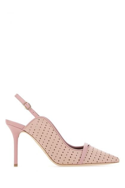 Pastel pink leather Marion pumps