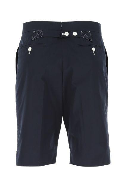Blue polyester blend bermuda shorts