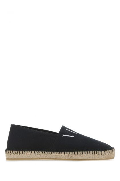 Black fabric espadrilles