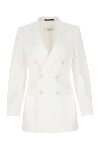 Giacca in cotone bianco
