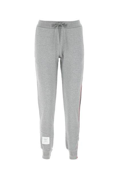 Light grey cotton joggers