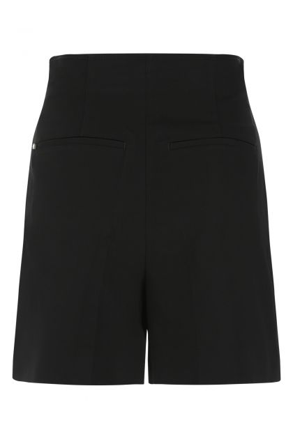 Black cotton stretch Placido shorts