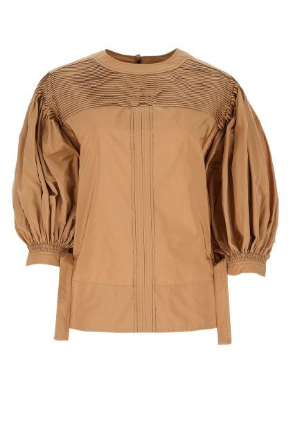 Biscuit polyester blouse