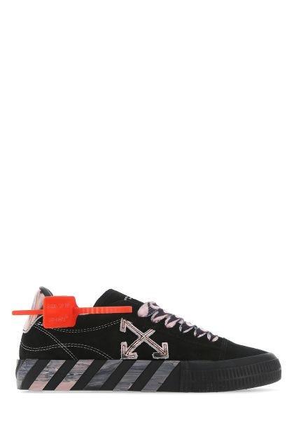 Black leather Liquid Melt Vulcanized sneakers
