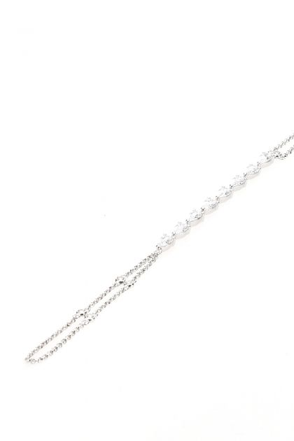 925 silver Marquise hand bracelet